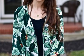 The Poppy Skull-Palm Print Duster-Spring Box of Style