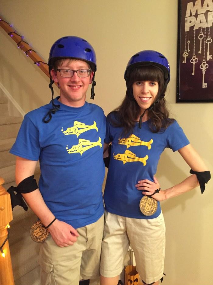 Blue Barracudas- easy small group costume-thepoppyskull.com