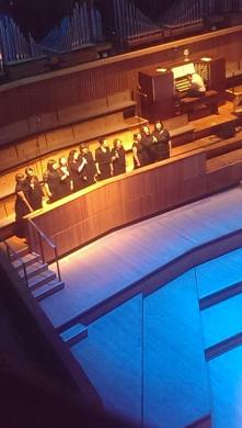 The Pop-Up Choir singing with Shlomo at Pipes Vs Mics at the Royal Festival Hall