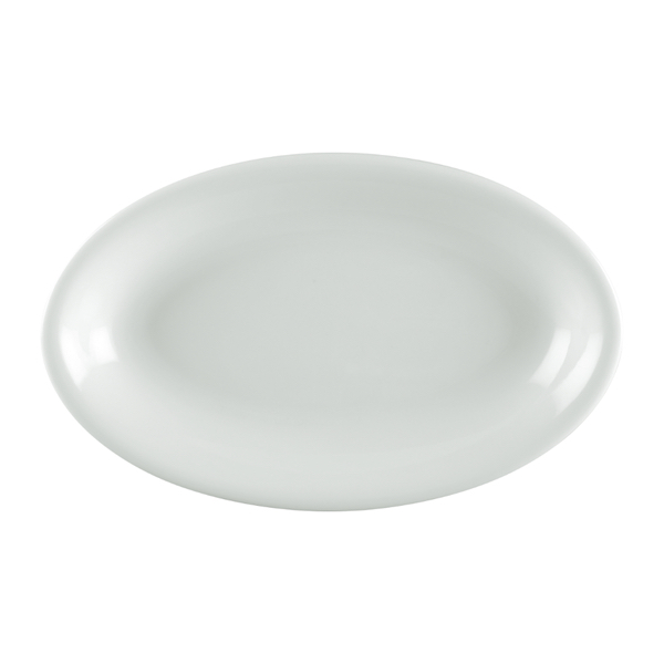 Ly's Horeca Oval Deep China Plate by Minh Long