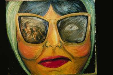 Georgette Bien Chic is a painting that has been seen in other shows Batya art shows. Her show at East Atlanta Library will feature many new works.Photo:A. C. Georgette