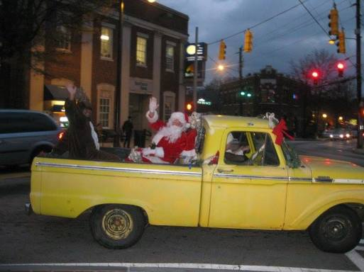 Santa rolling into East Atlanta. Photo by Dawn Rivera.