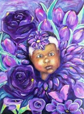 Purple Flower. Images courtesy of Renee Ruffin