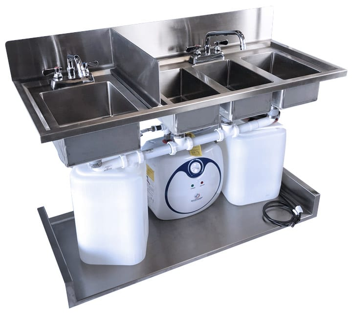 full self contained 4 basin sink system