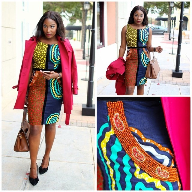 Image result for nigerian articles on how to wear ankara to work