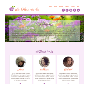 Deluxe One Page Website Sample