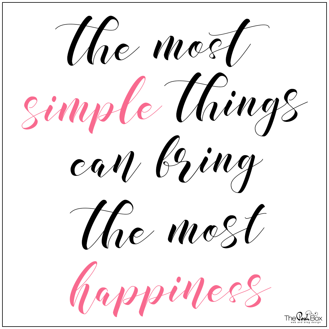 Simple Things Happiness