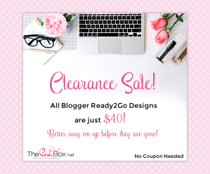 Ready2Go Blogger Clearance Sale