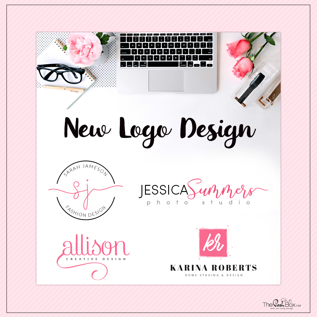 New Feminine Logo Designs for Websites or Blogs