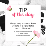 Tip of the Day – Keeping WordPress Updated