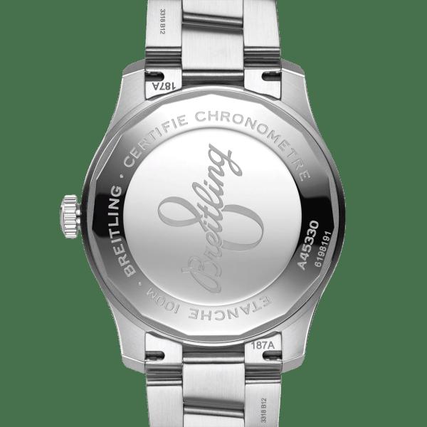 Breitling Aviator-8 watch A45330101B1A1 - back view - The Posh Watch Shop