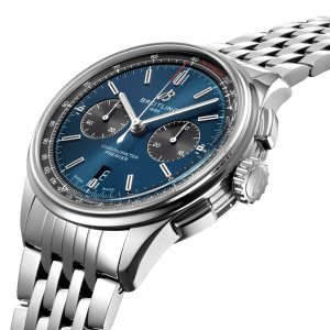 Breitling Premier-B01 Chronograph watch AB0118A61C1A1 - Side View - The Posh Watch Shop