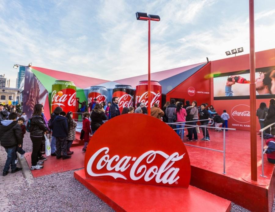 Stand de Coca-Cola en La Rural
