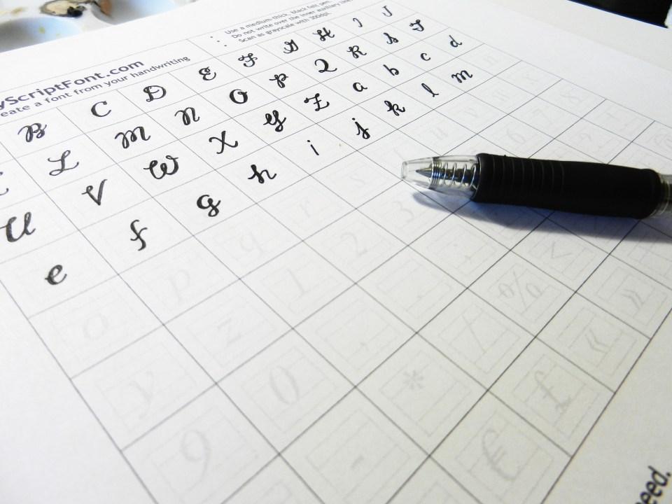 Font Creation in Progress