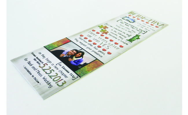 Save the Date Bookmark Front