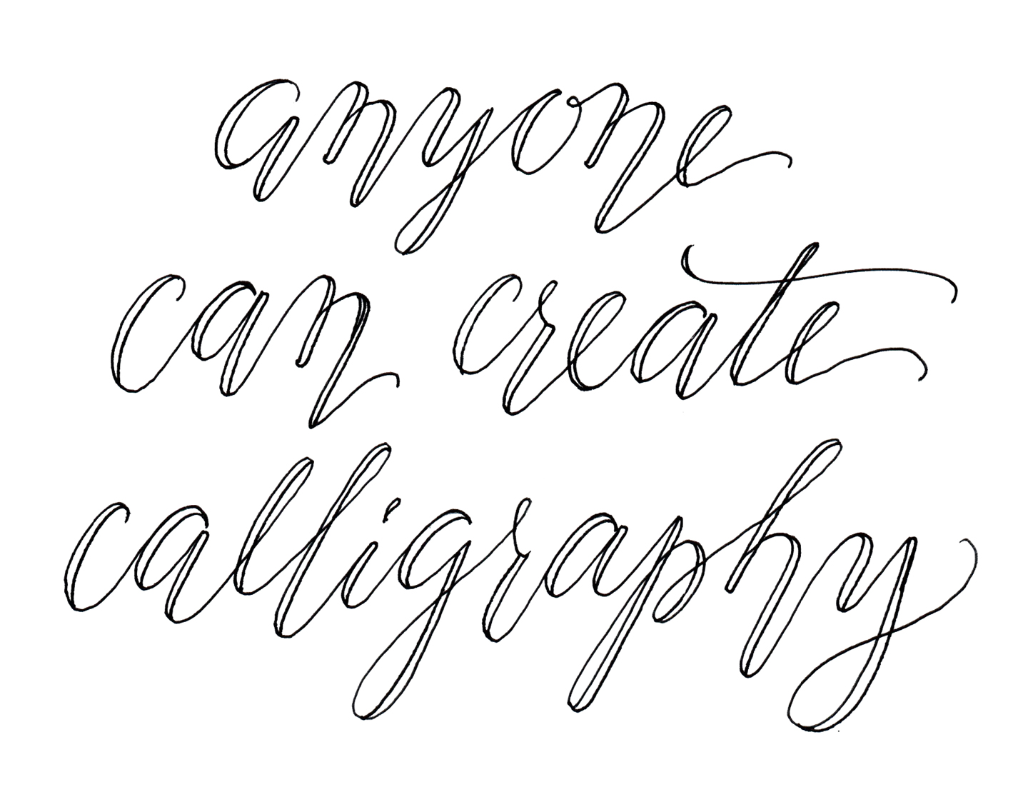 Cheating Calligraphy Tutorial