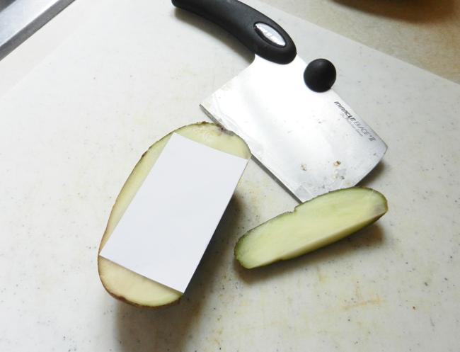 Make a Potato Stamp | The Postman's Knock by Lindsey Bugbee
