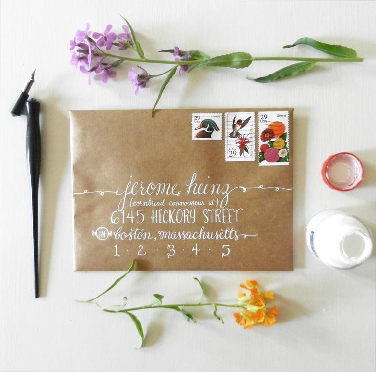 Envelope Calligraphy | The Postman's Knock