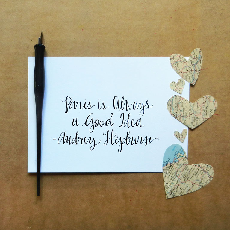 How to use a dip pen create modern calligraphy