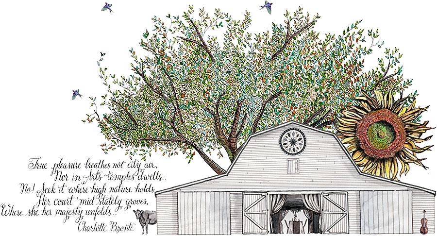 Sweet Meadow Custom Illustration | The Postman's Knock