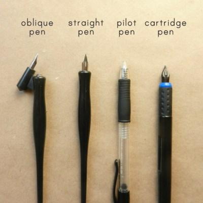 Calligraphy Pen Comparisons