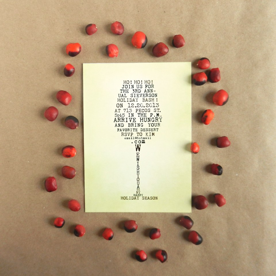 Wine Glass Holiday Invitation