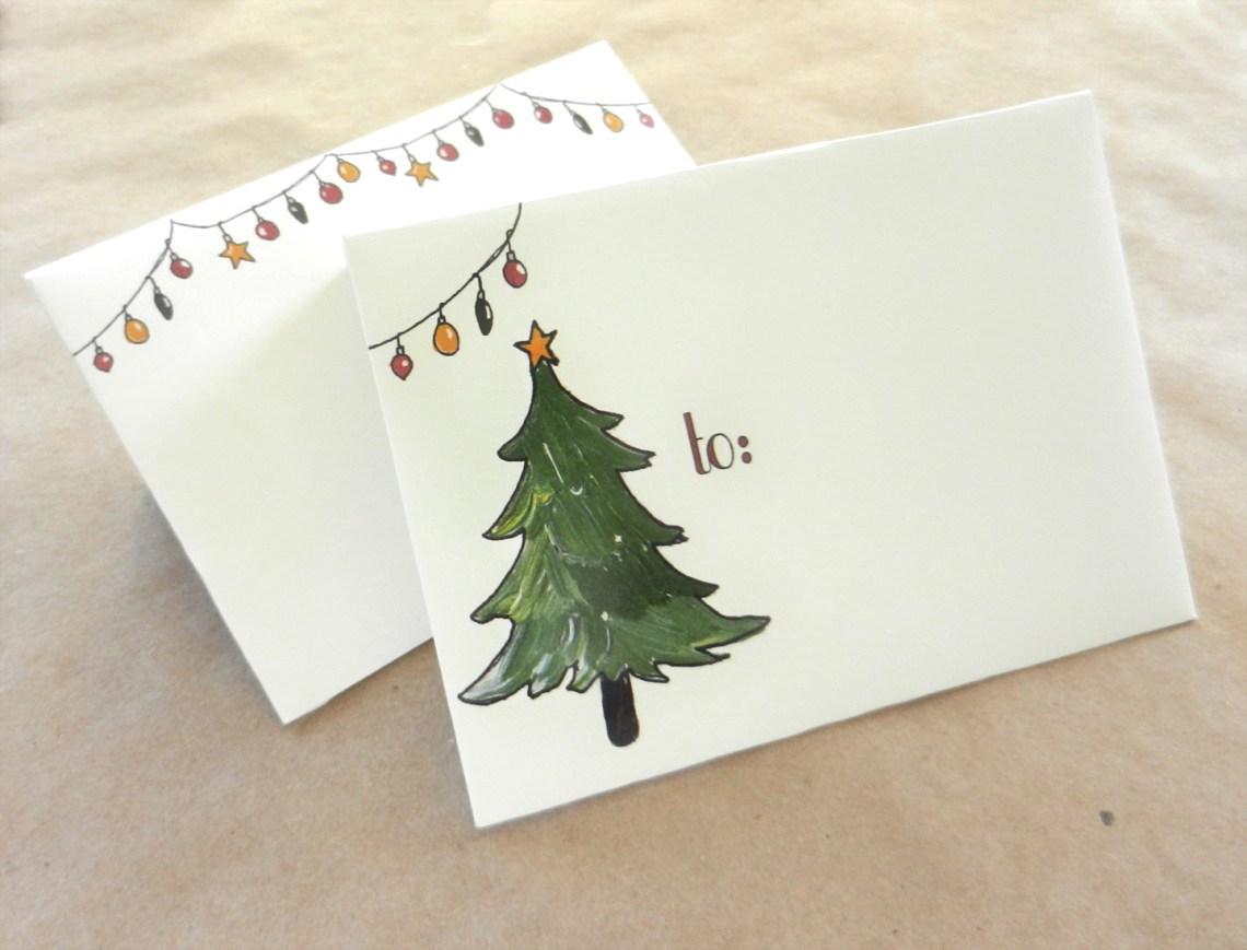 Printable Holiday Mail Art Envelopes {Freebie} | The Postman's Knock