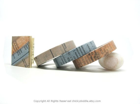 Vintage Books Washi Tape by Chicky Doddle | Small Gift Idea - The Postman's Knock