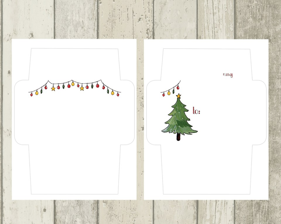 printable holiday mail art envelopes freebie the postman s knock