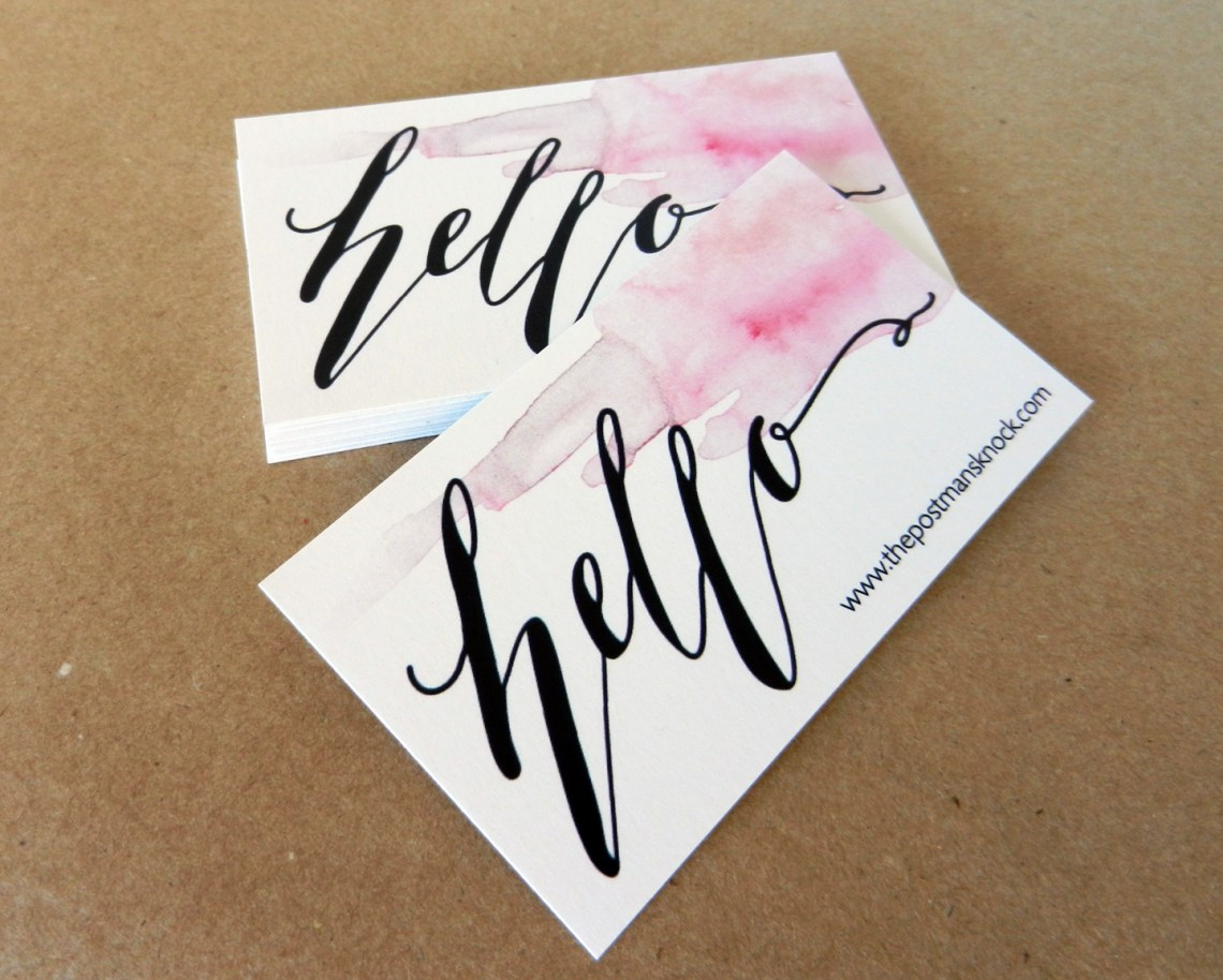How to Create a Business Card Design | The Postman's Knock