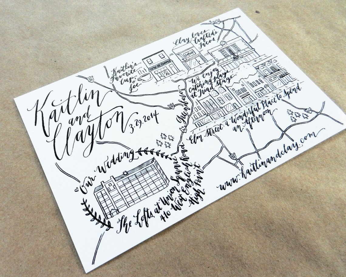 Wedding Map | The Postman's Knock