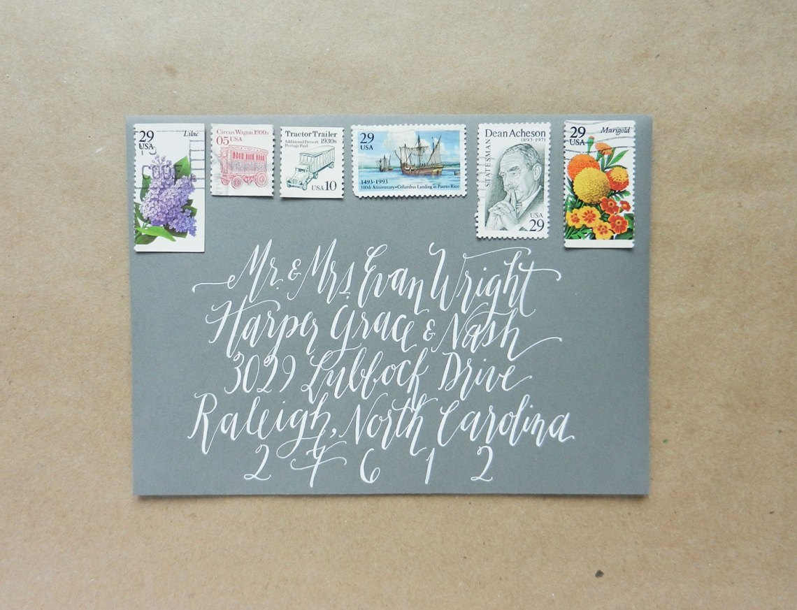 Kaitlin Style Wedding Envelope Calligraphy | The Postman's Knock
