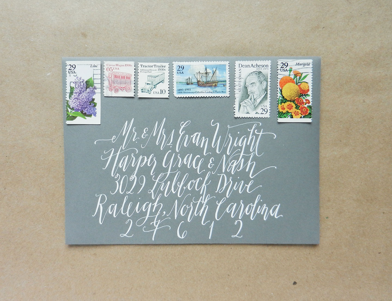 Kaitlin Style Wedding Envelope Calligraphy | The Postman's Knock