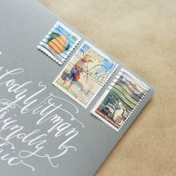 Vintage Stamp Collages on Envelopes | The Postman's Knock