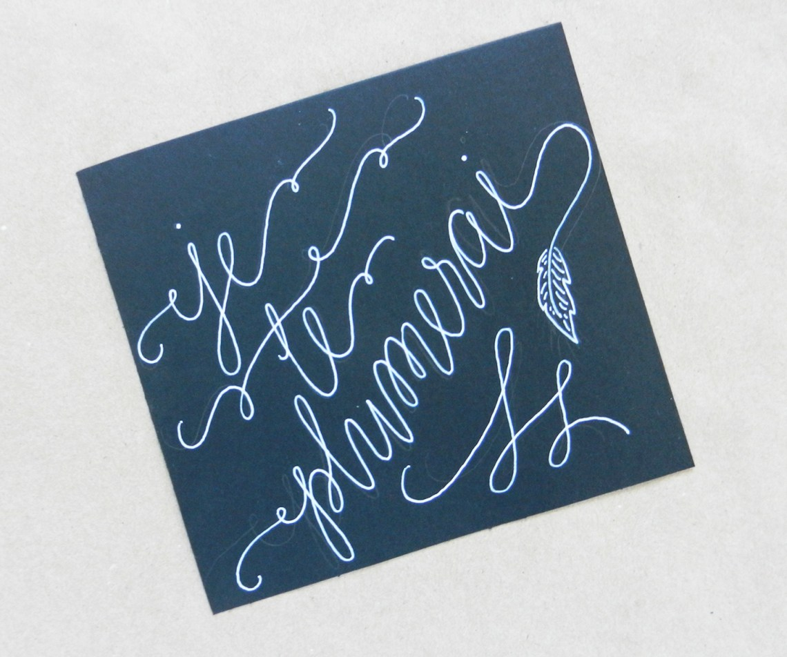 ... make black cheating calligraphy, I recommend using a Pilot G2 gel pen