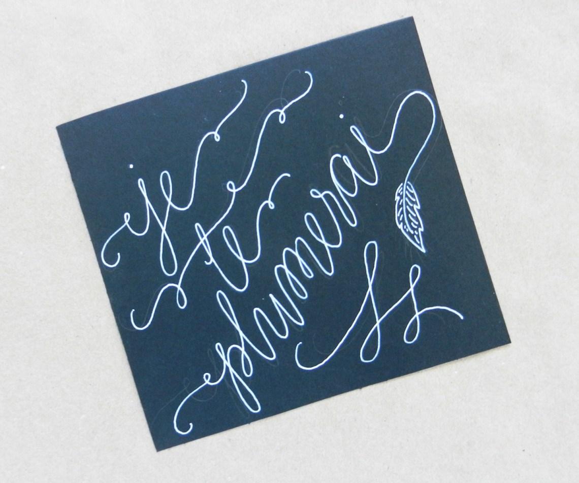White faux calligraphy tutorial the postman s knock