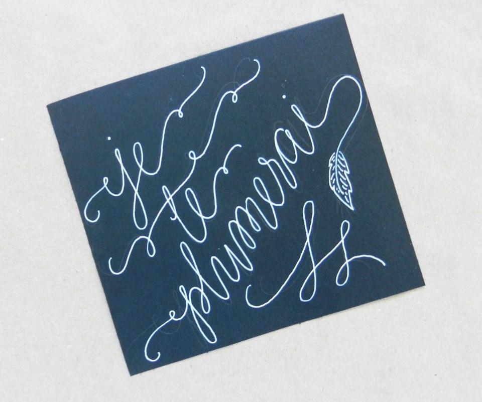 White Faux Calligraphy Tutorial   The Postman's Knock