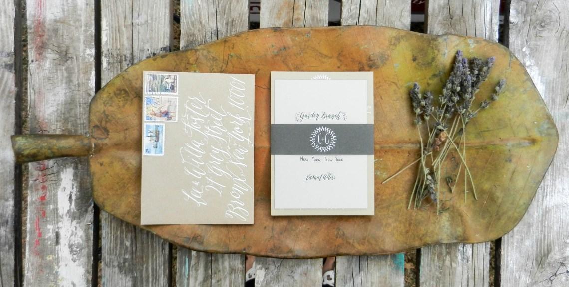 Handwritten Wedding Invitations   The Postman's Knock