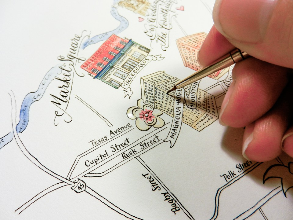 Illustrated Wedding Maps | The Postman's Knock