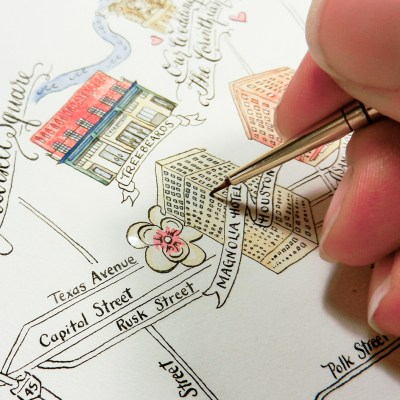 Illustrated Wedding Maps