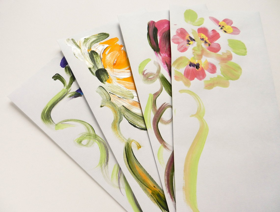 Acrylic flower painting tutorial amy style calligraphy