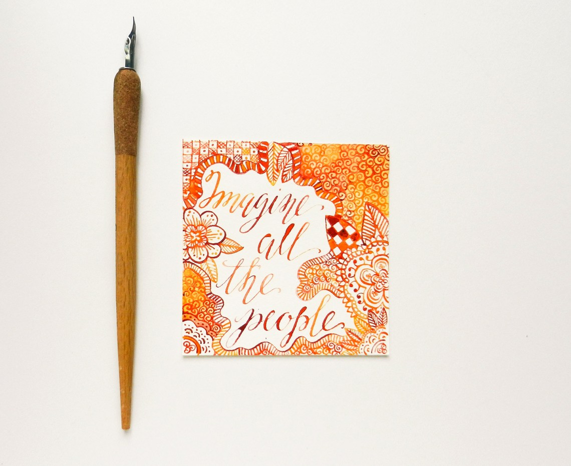 Watercolor calligraphy the postman s knock