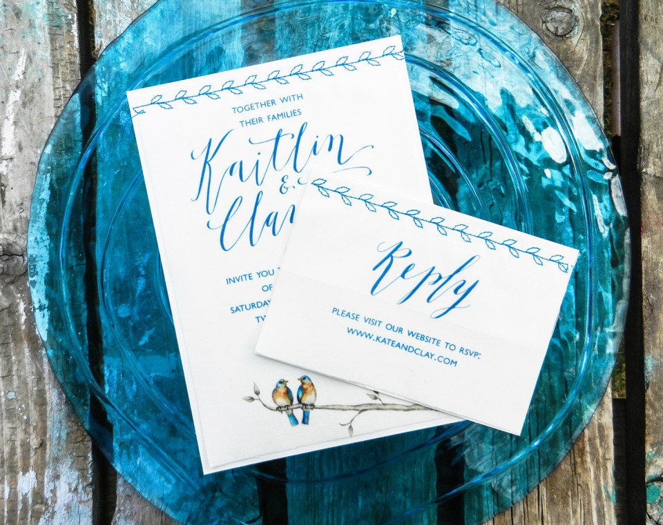 Fabric Wedding Invitations | The Postman's Knock