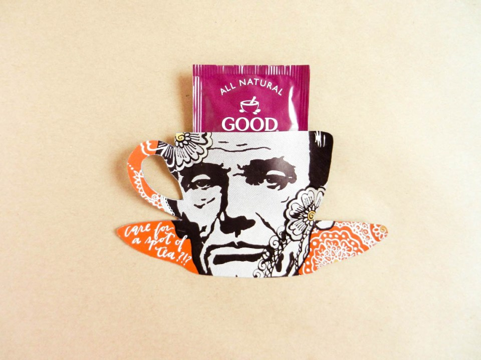 Abe Lincoln Tea Bag Holder | The Postman's Knock