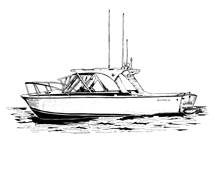 The Bertram Boat | The Postman's Knock
