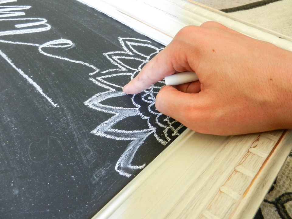 Calligraphy Chalkboard Calendar | The Postman's Knock