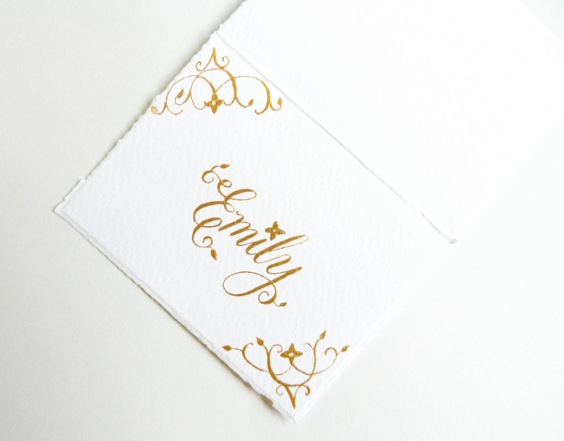 Gold Place Cards | The Postman's Knock