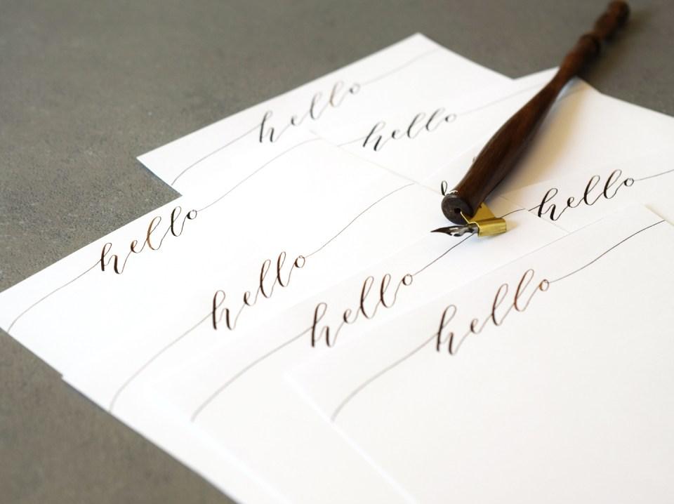 Writing on a Handmade Stationery Set