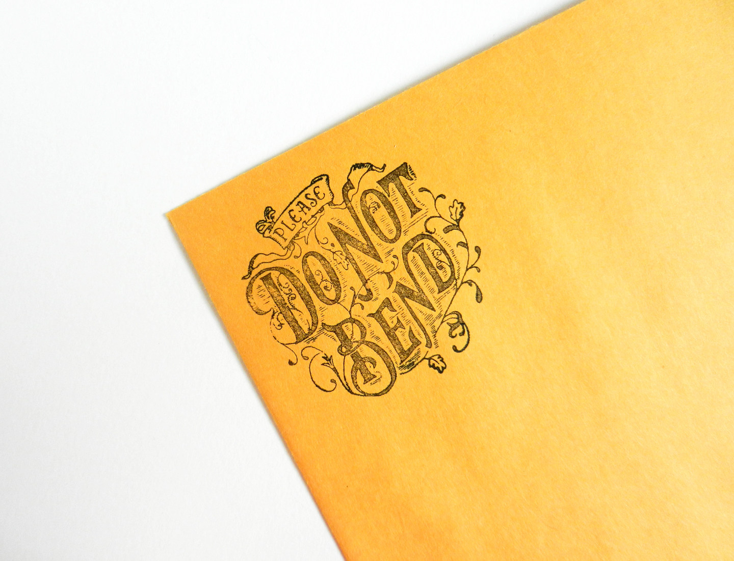 Do Not Bend Stamp | The Postman's Knock
