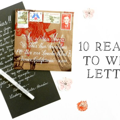 10 Reasons to Write Letters